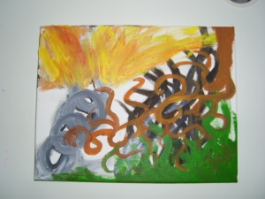 Abstract art -God breaks chains.