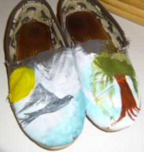 Painting on Toms.
