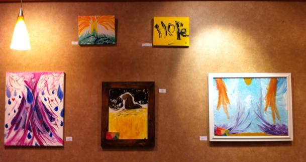 Paintings hung In EarthFare for the month of July, 2013.