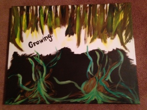 Growing- Abstract art.